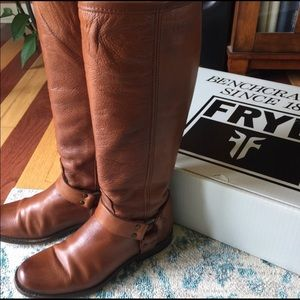 Frye Phillip Harness Tall Boots 6.5